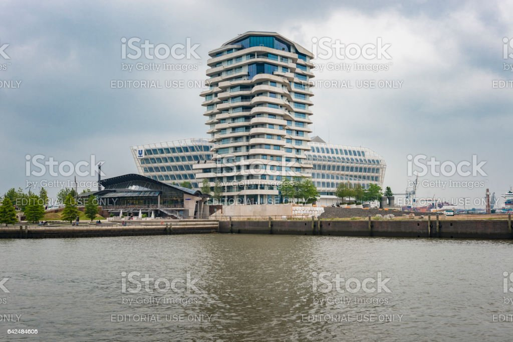 Unilever headquarters in Hamburg stock photo