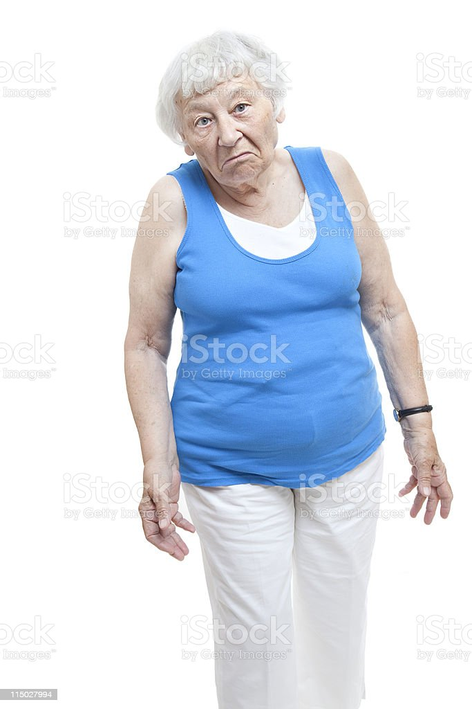Unimpressed Senior Woman royalty-free stock photo