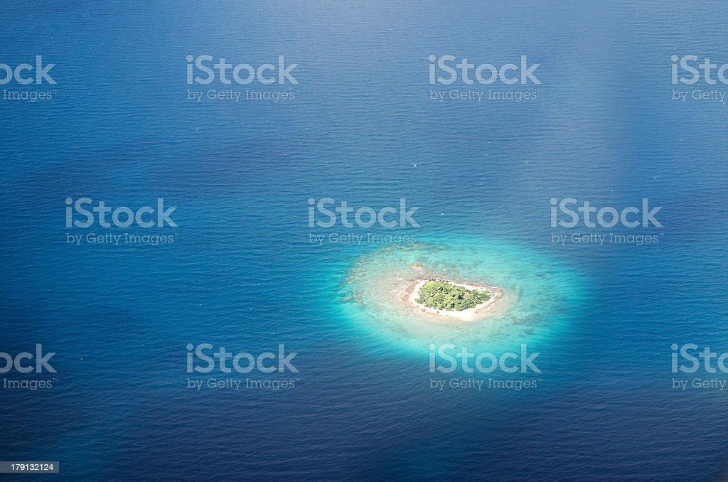 Isola disabitata nel Pacifico - foto stock