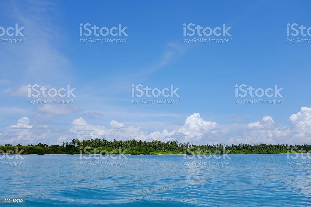 uninhabited Island, Lh Atoll, Maldives stock photo