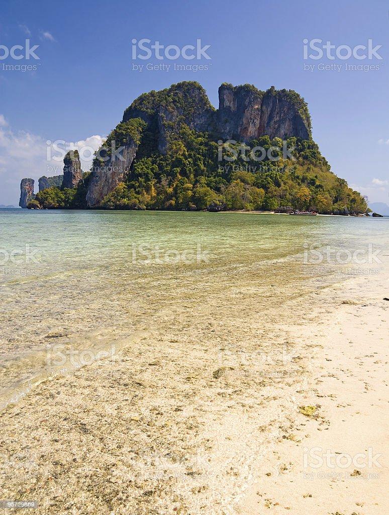 Uninhabited Island royalty-free stock photo