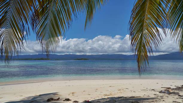 Uninhabited islands of archipelago San Blas, Panama stock photo