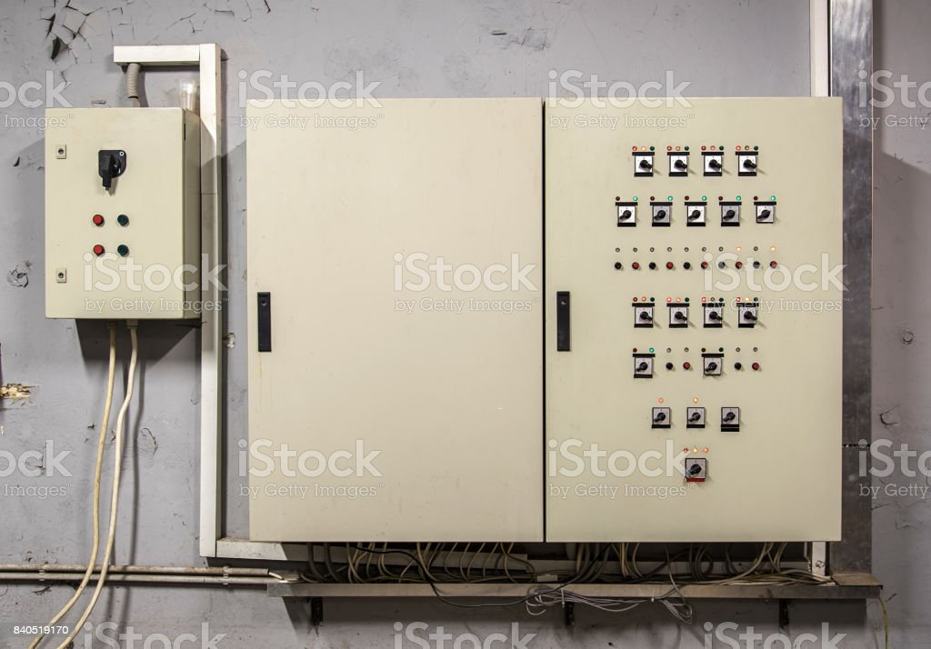 Uninterrupted power. Electrical power. stock photo