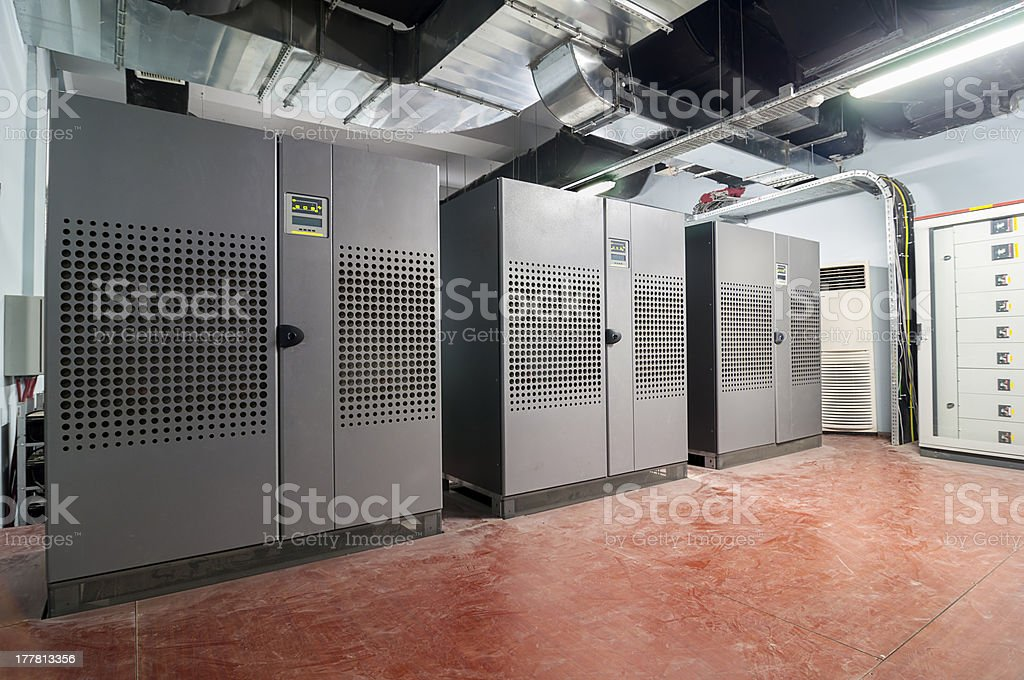 Uninterruptible Power Supply centre stock photo
