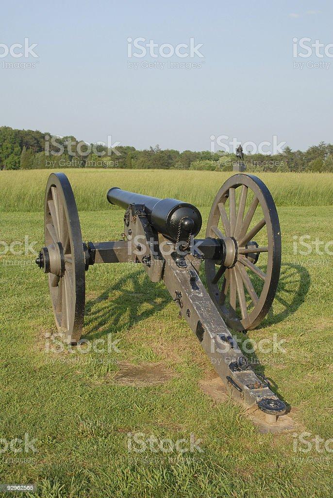 Union artillery at Manassas stock photo