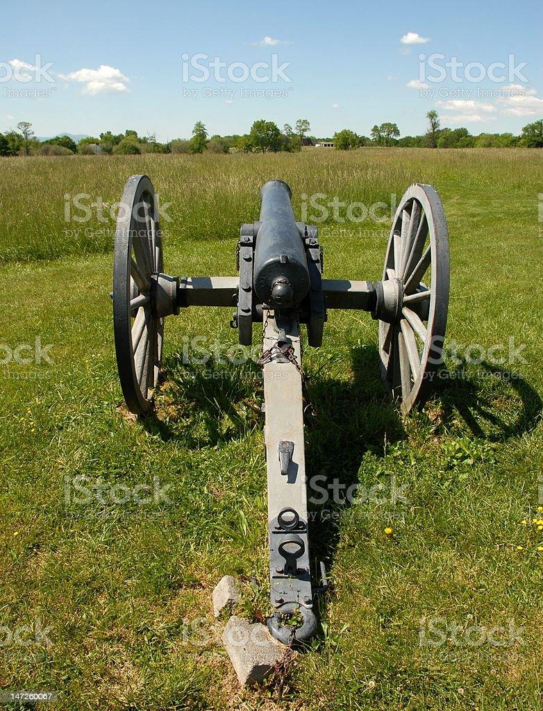 Union artillery at New Market stock photo