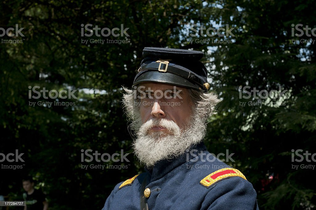 Union Artillery Officer royalty-free stock photo