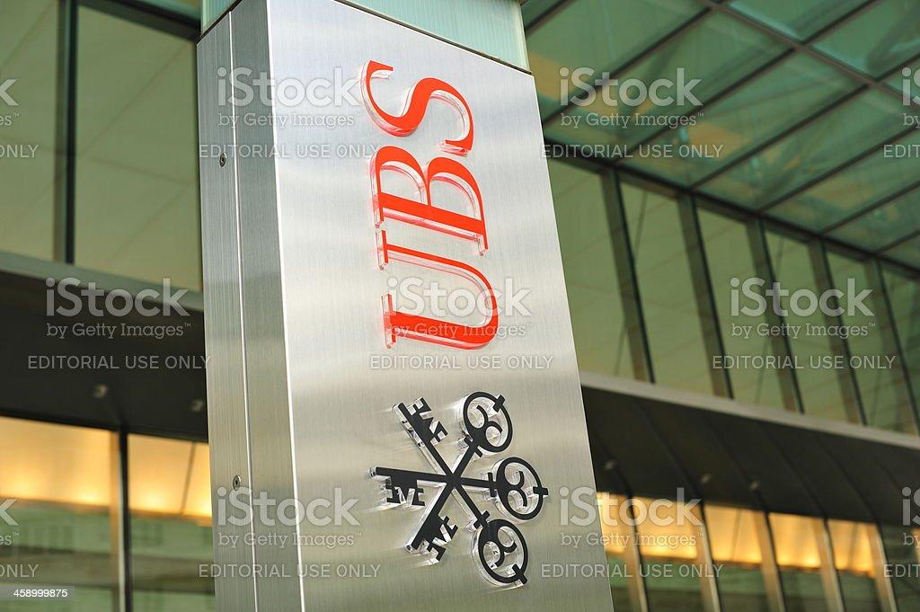 Union Bank of Switzerland royalty-free stock photo