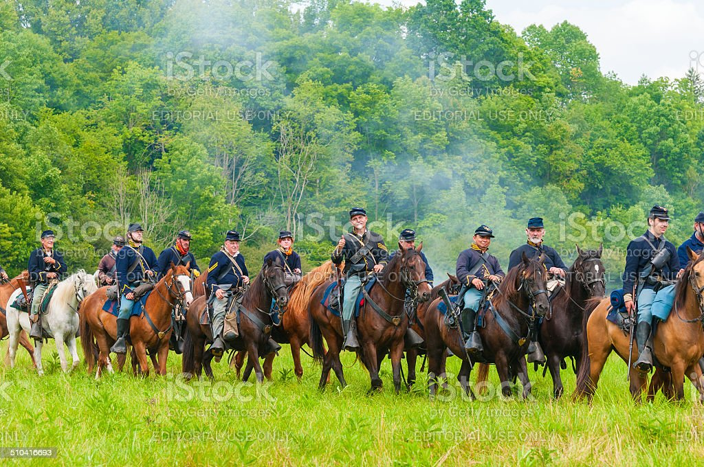 Union cavalry parade stock photo