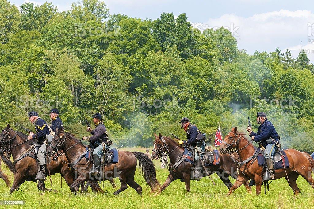 Union cavalry stock photo