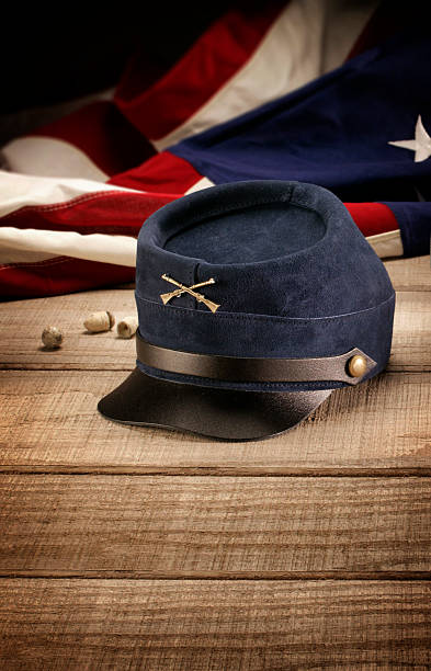 Union Civil War Hat Civil war hat worn by the typical Union soldier during the American Civil War american civil war stock pictures, royalty-free photos & images