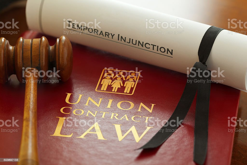 Union Contract Law stock photo