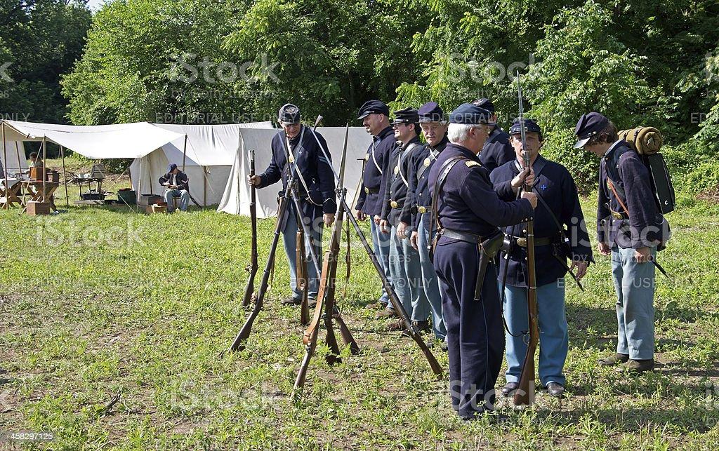 Union Encampment royalty-free stock photo