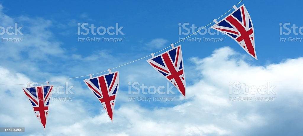 Union Jack Bunting and Banners stock photo