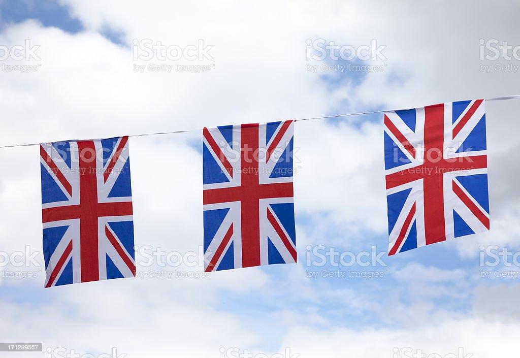 Union Jack bunting - foto de acervo