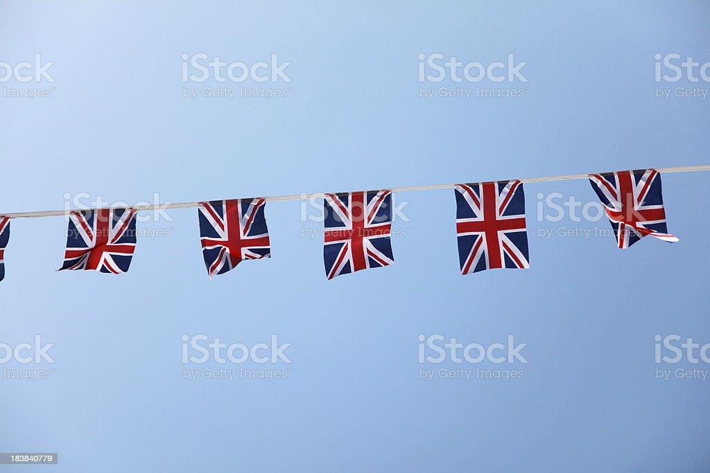 Union Jack bunting royalty-free stock photo