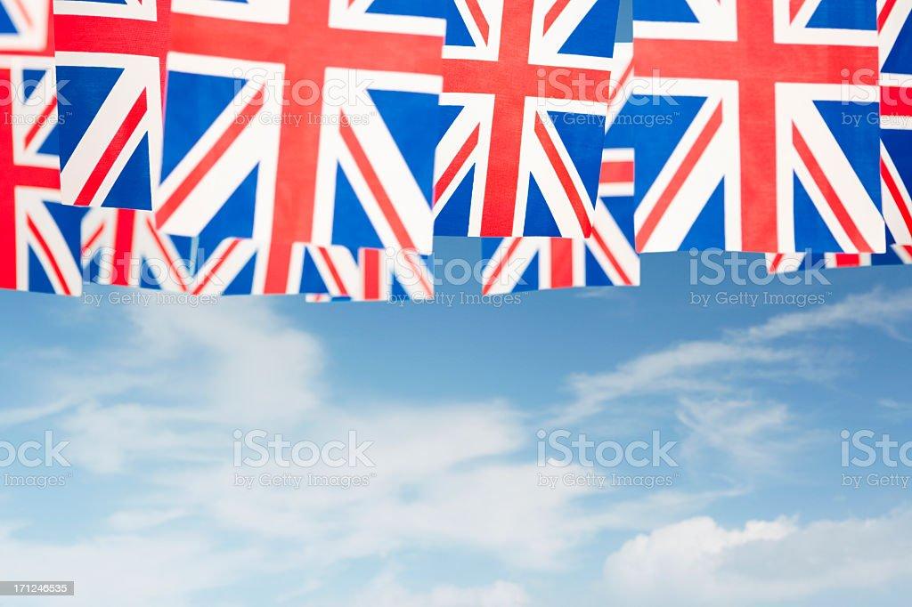 Union Jack celebratory bunting royalty-free stock photo