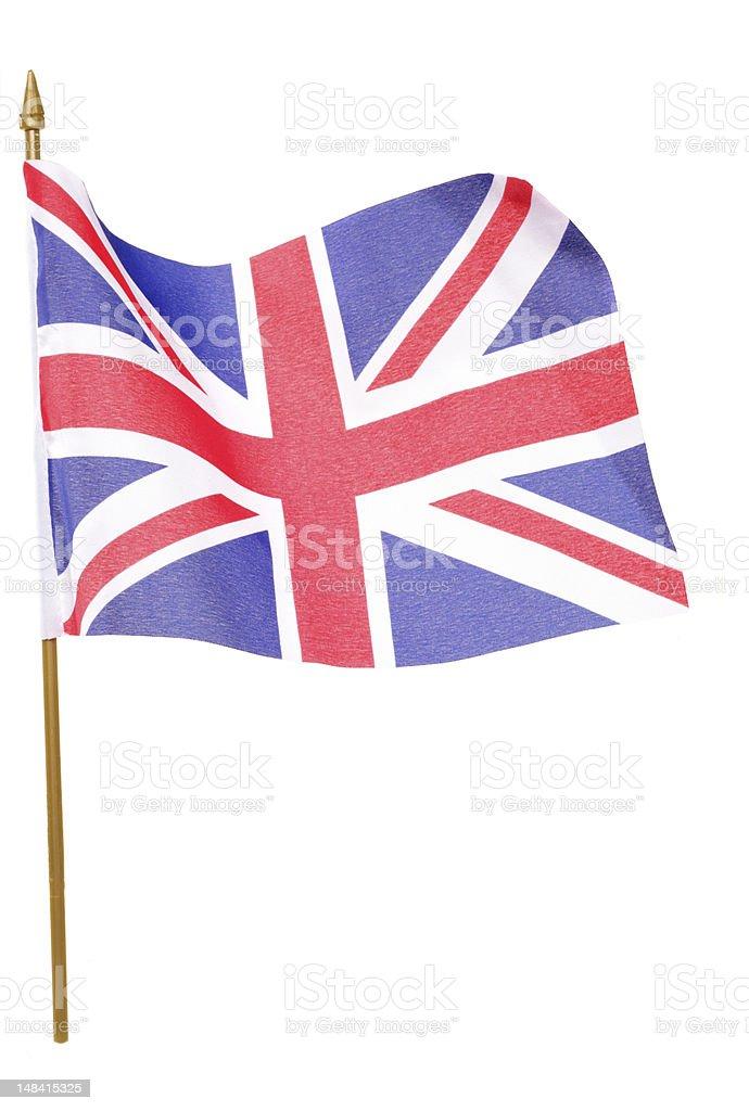 union jack flag cutout royalty-free stock photo