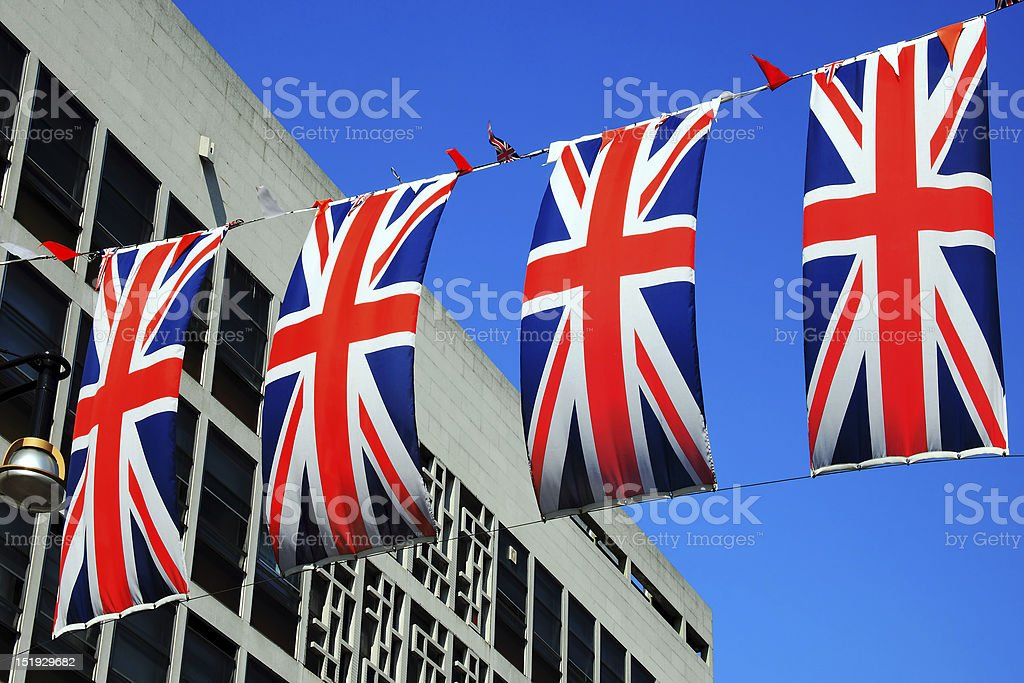 Union Jack Flags royalty-free stock photo
