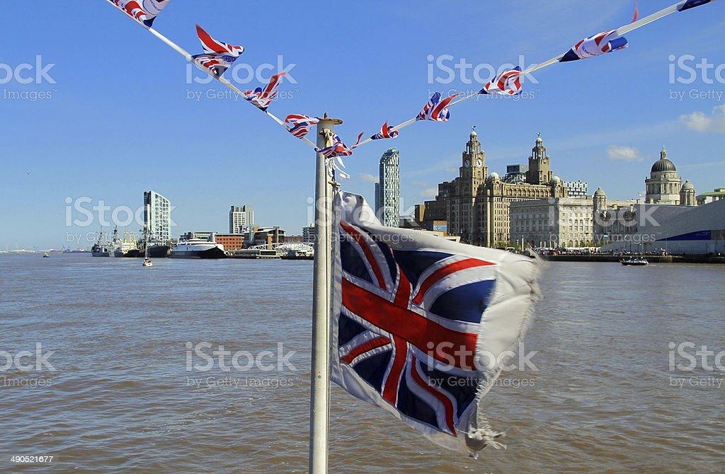 Union Jack Liverpool stock photo