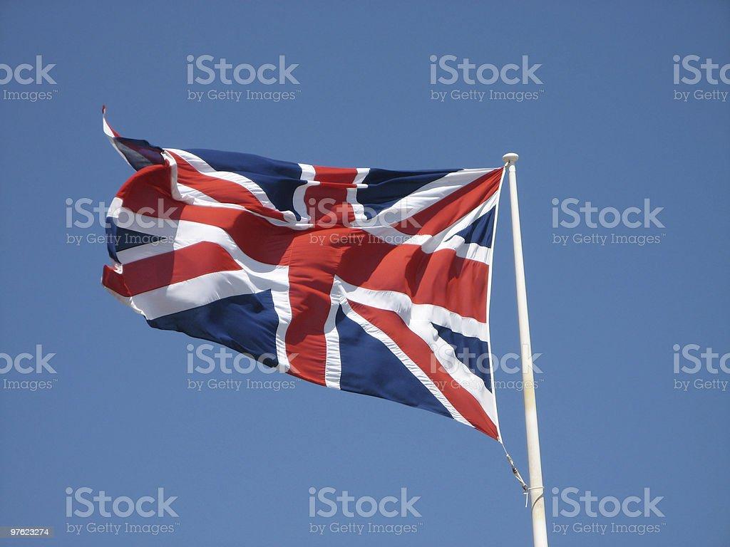 Union Jack on High royalty-free stock photo
