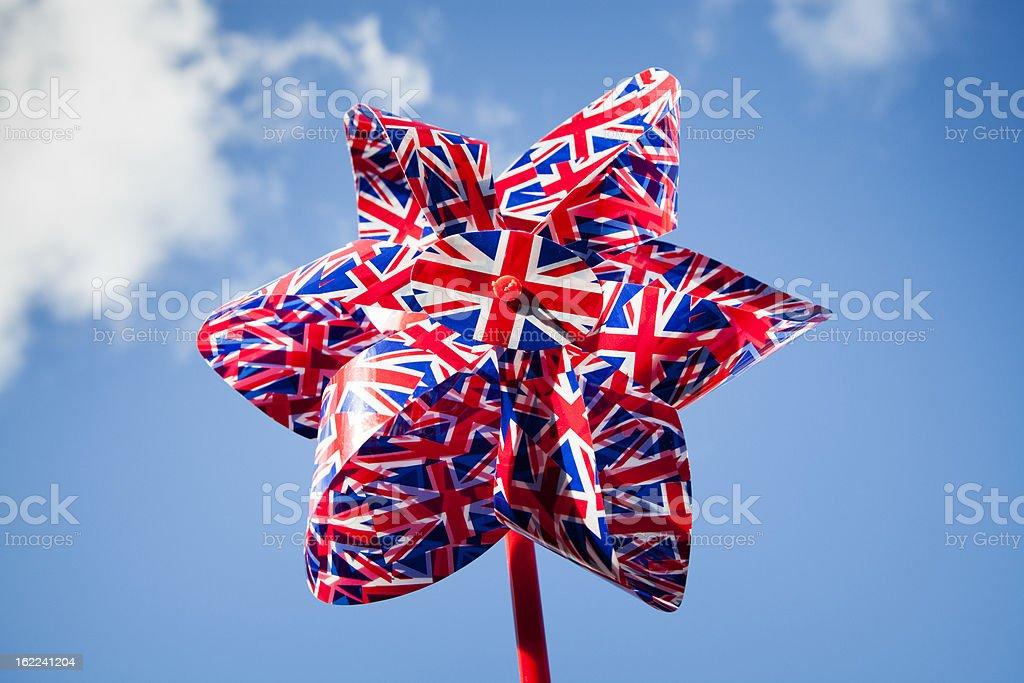 Union Jack Pinwheel royalty-free stock photo