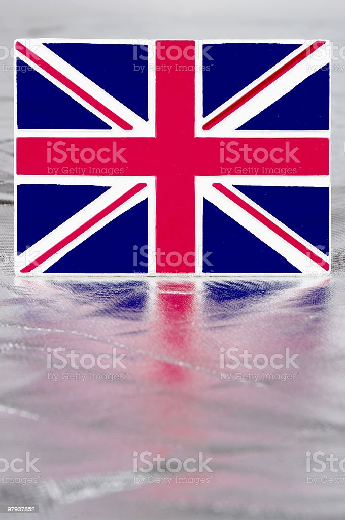 Union Jack With Reflection royalty-free stock photo