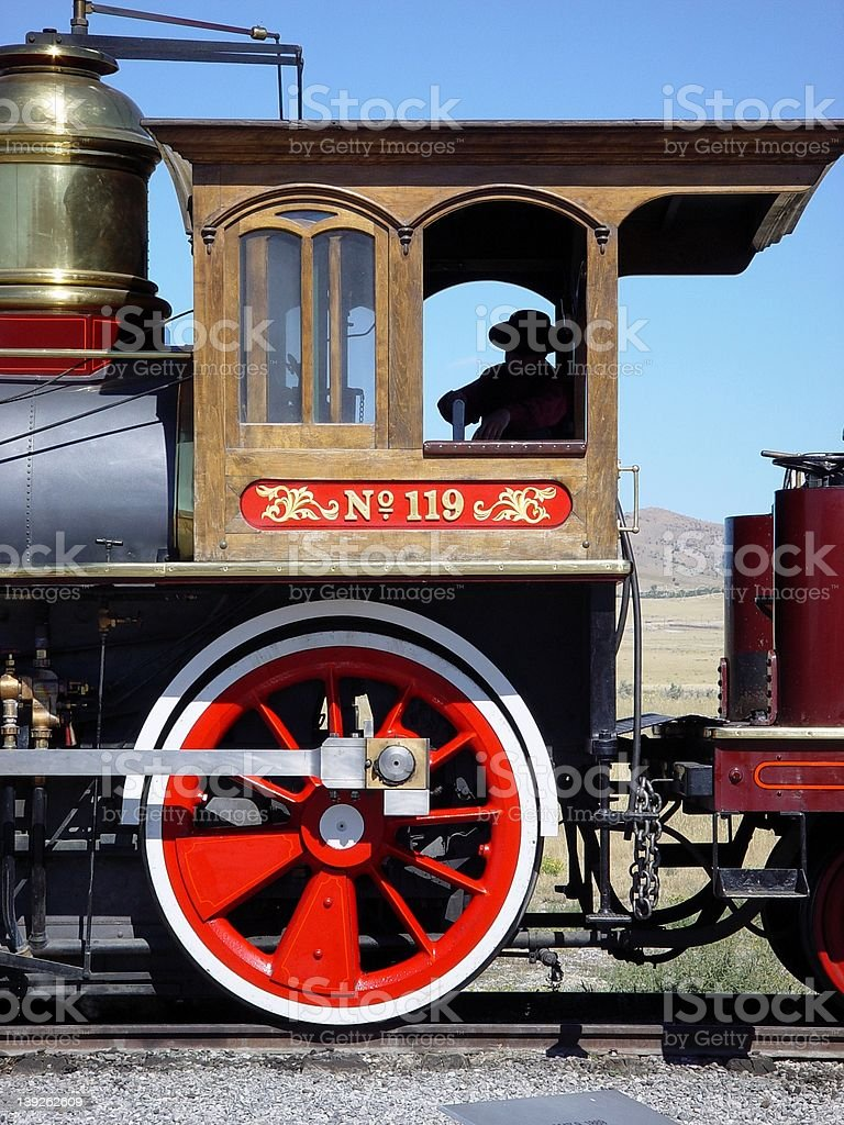 Union Pacific 119 Cab royalty-free stock photo