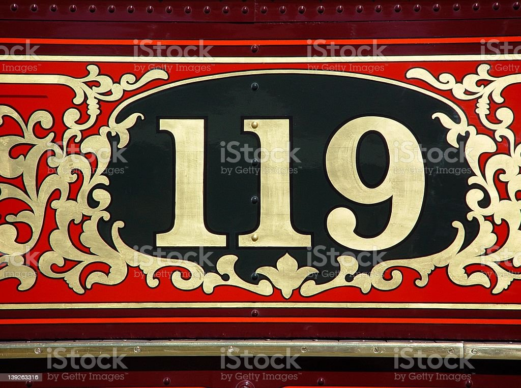 Union Pacific 119 Number royalty-free stock photo