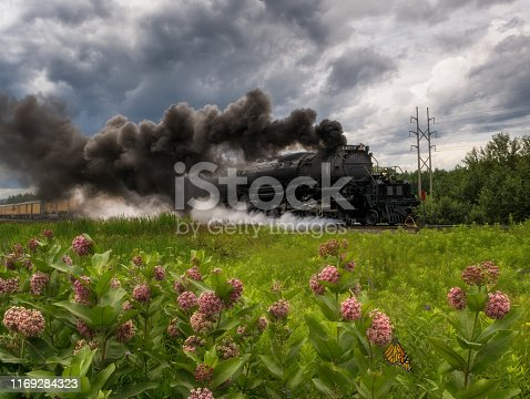 union pacific bigboy 4014 driving through superior wisconsin