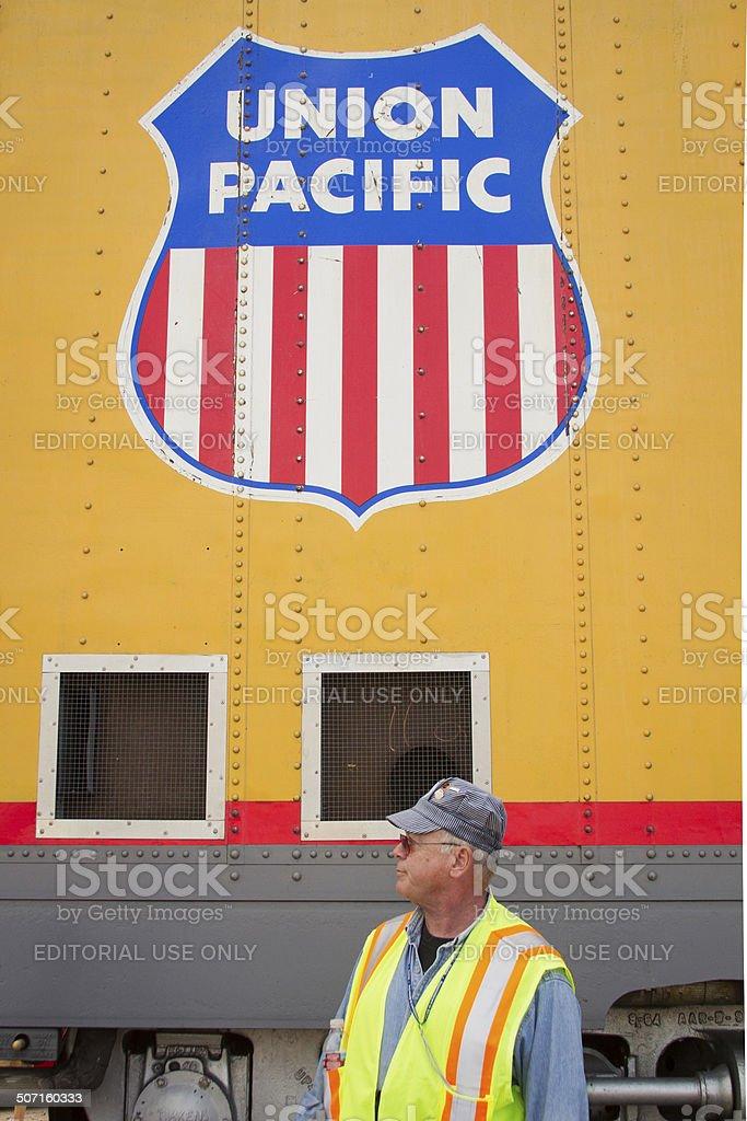 Union Pacific Railroad Logo stock photo