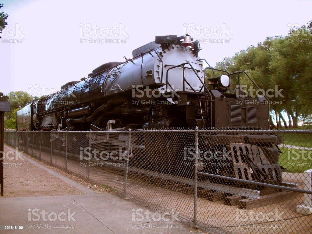 Union Pacific's Big Boy 4014 Steam Locomotive stock photo