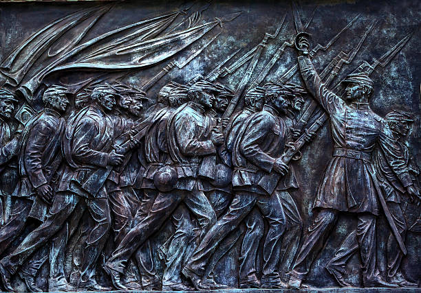 Union Soldiers US Grant Statue Memorial Capitol Hill Washington DC Union Soldiers Charging Ulysses US GrantCivil War Memorial Capitol Hill Washington DC.  Created by Henry Shrady and dedicated in 1922.  Commercial and Editorial Photography is permitted at this site. american civil war stock pictures, royalty-free photos & images