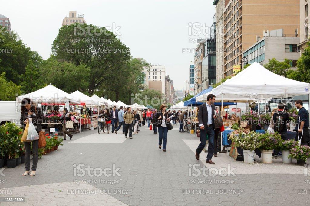 Union Square Greenmarket Farmers Market New York City stock photo