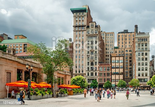 NYC, NY / USA - July 17 2014: View of Union Square in Manhattan.