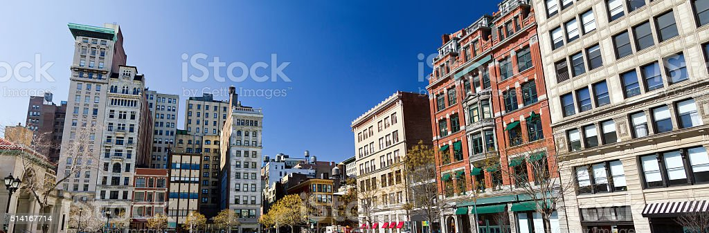 Union Square Park in Manhattan, New York City stock photo