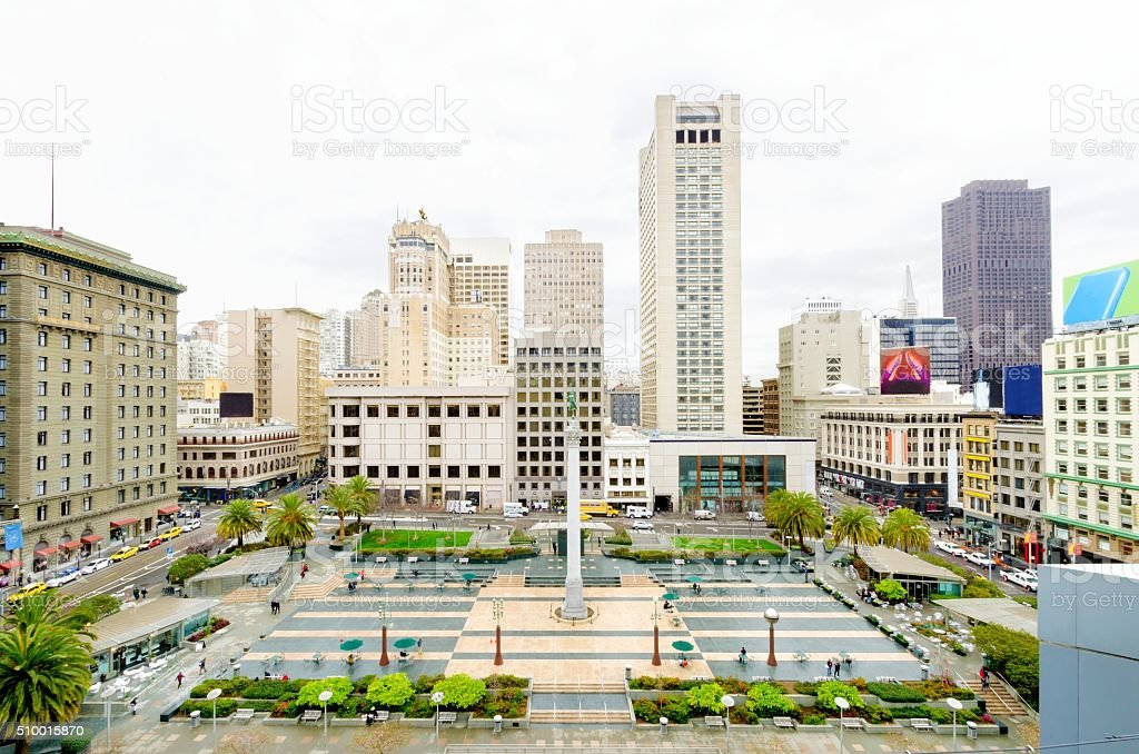Union Square, San Francisco, California stock photo