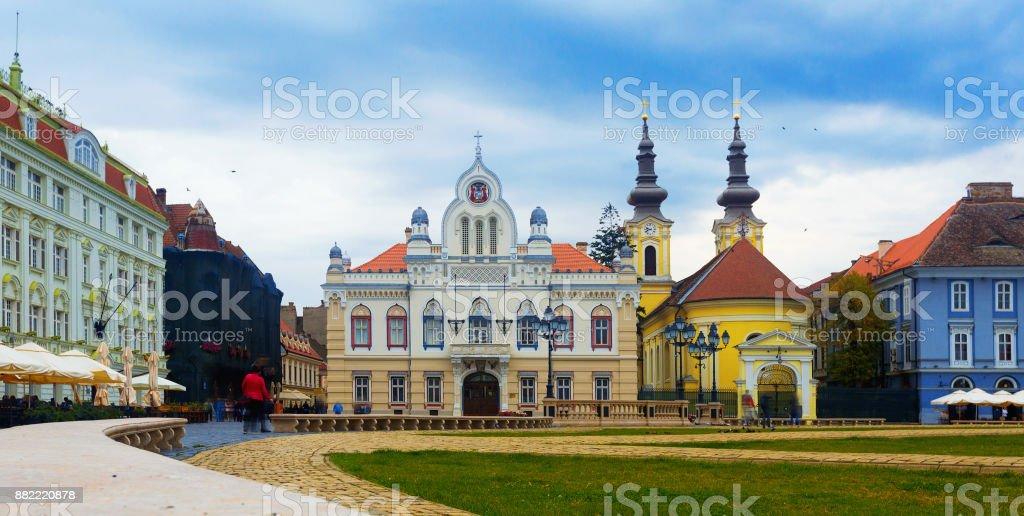 Union Square (Piata Unirii), Timisoara stock photo
