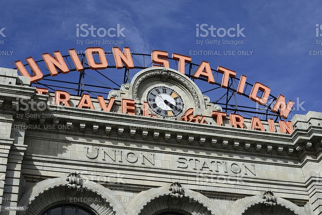 Union Station, Denver royalty-free stock photo