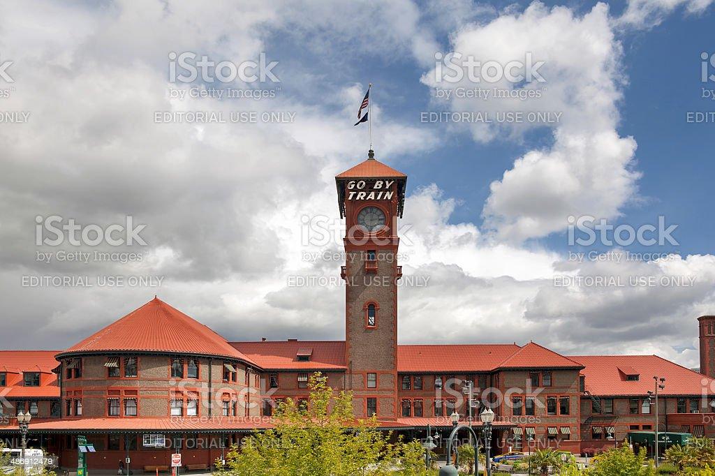 Union Station for Amtrak Trains Portland Oregon stock photo