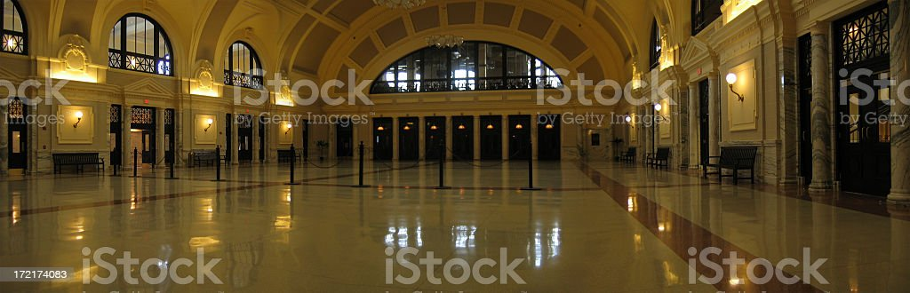 Union Station, Worcester stock photo