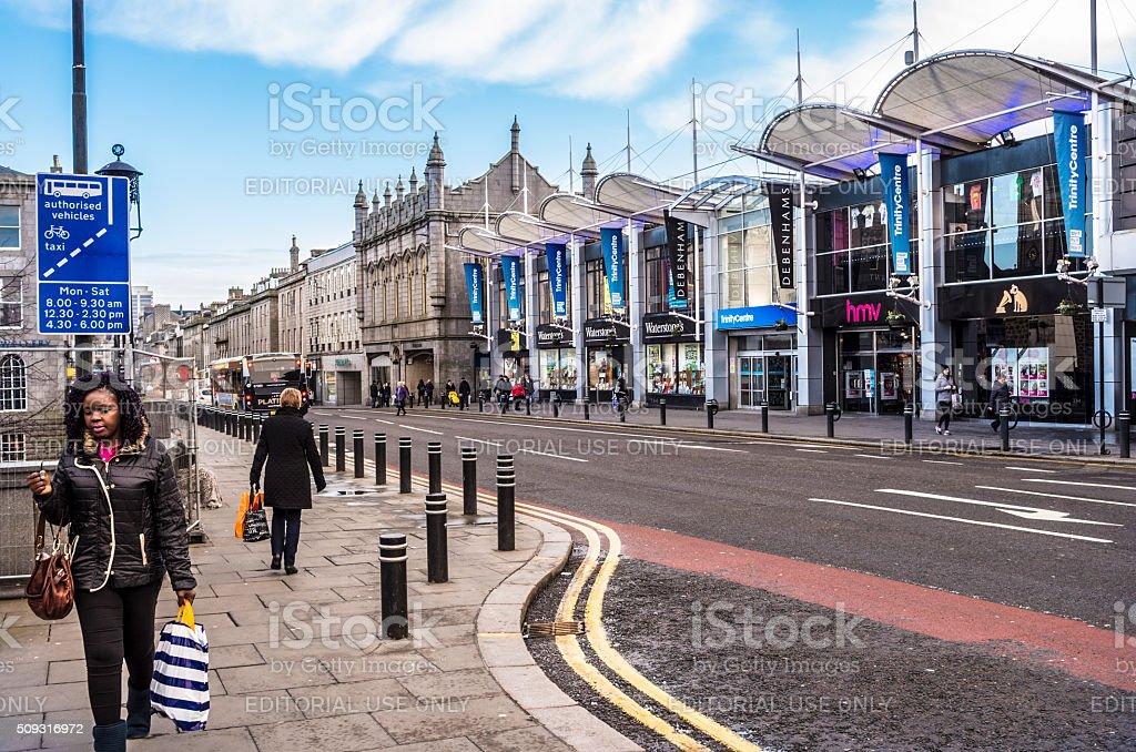 Union Street, Aberdeen stock photo