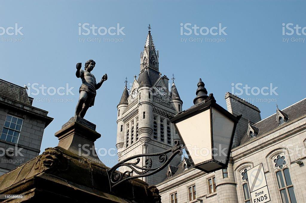 Union Street Aberdeen Scotland stock photo