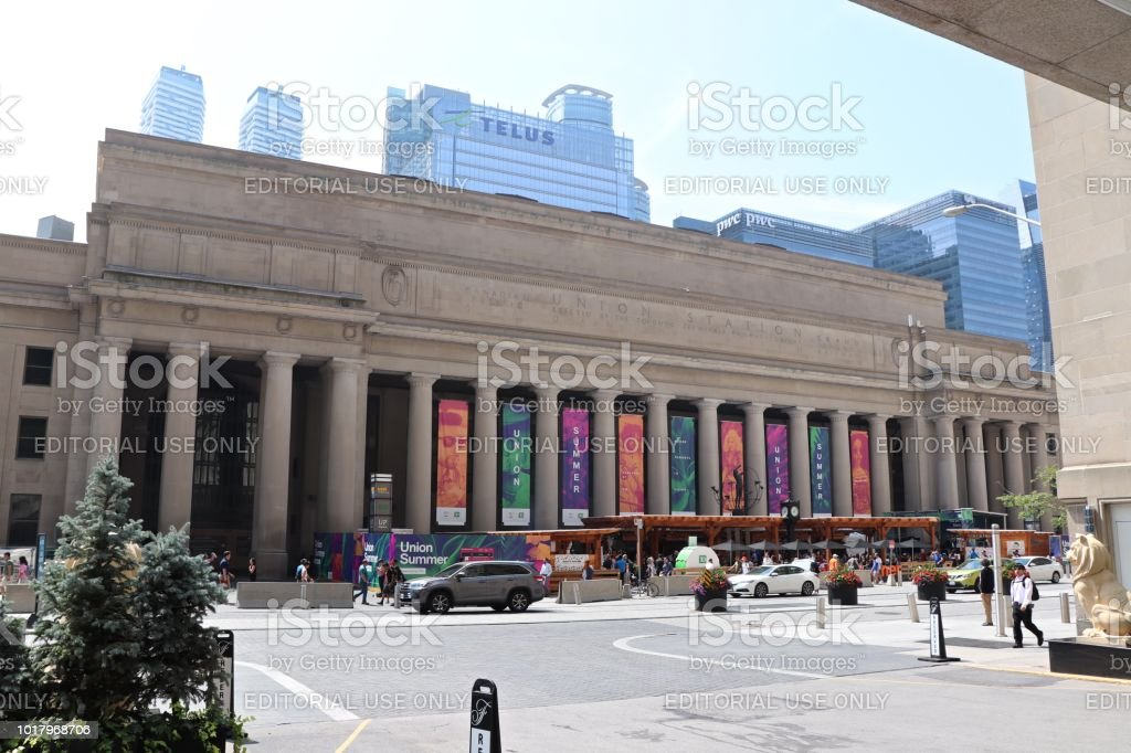 Union Summer on Display at Toronto's Union Station stock photo