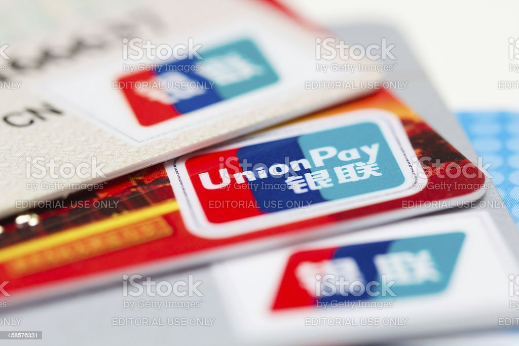 UnionPay credit card stock photo