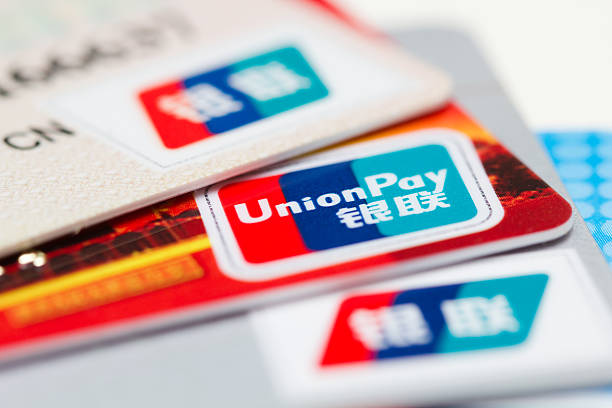unionpay kreditkarte - pengpeng stock-fotos und bilder