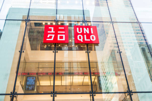 Uniqlo winkel in New York City, Verenigde Staten​​​ foto