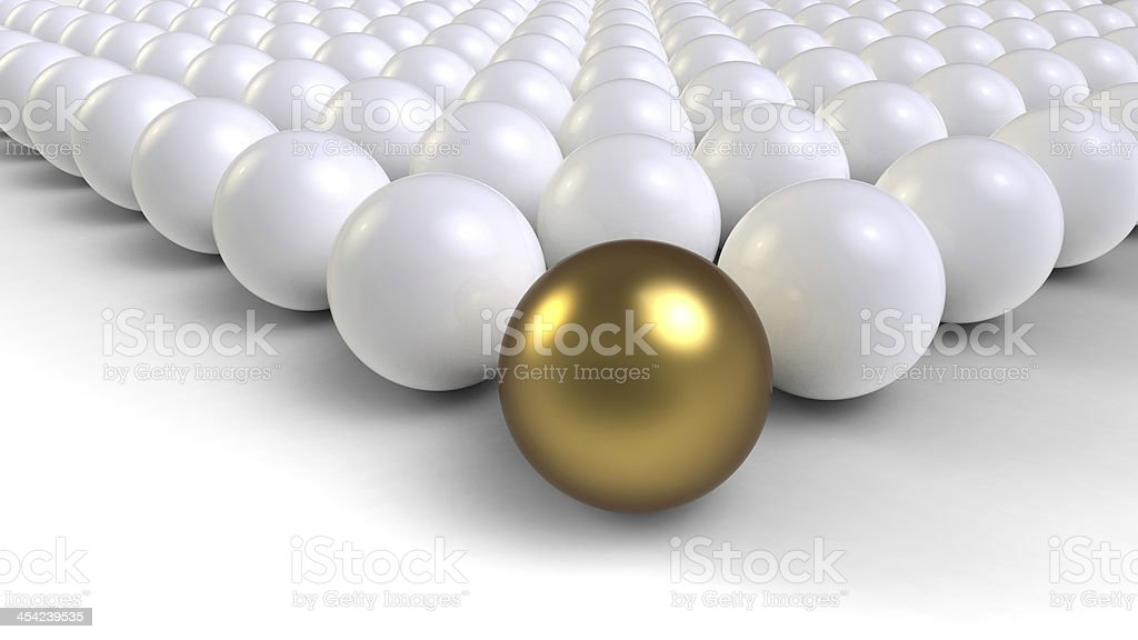 Unique a different gold ball royalty-free stock photo