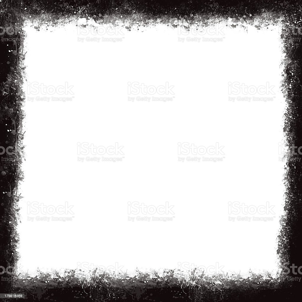 Unique Black and White border frame stock photo