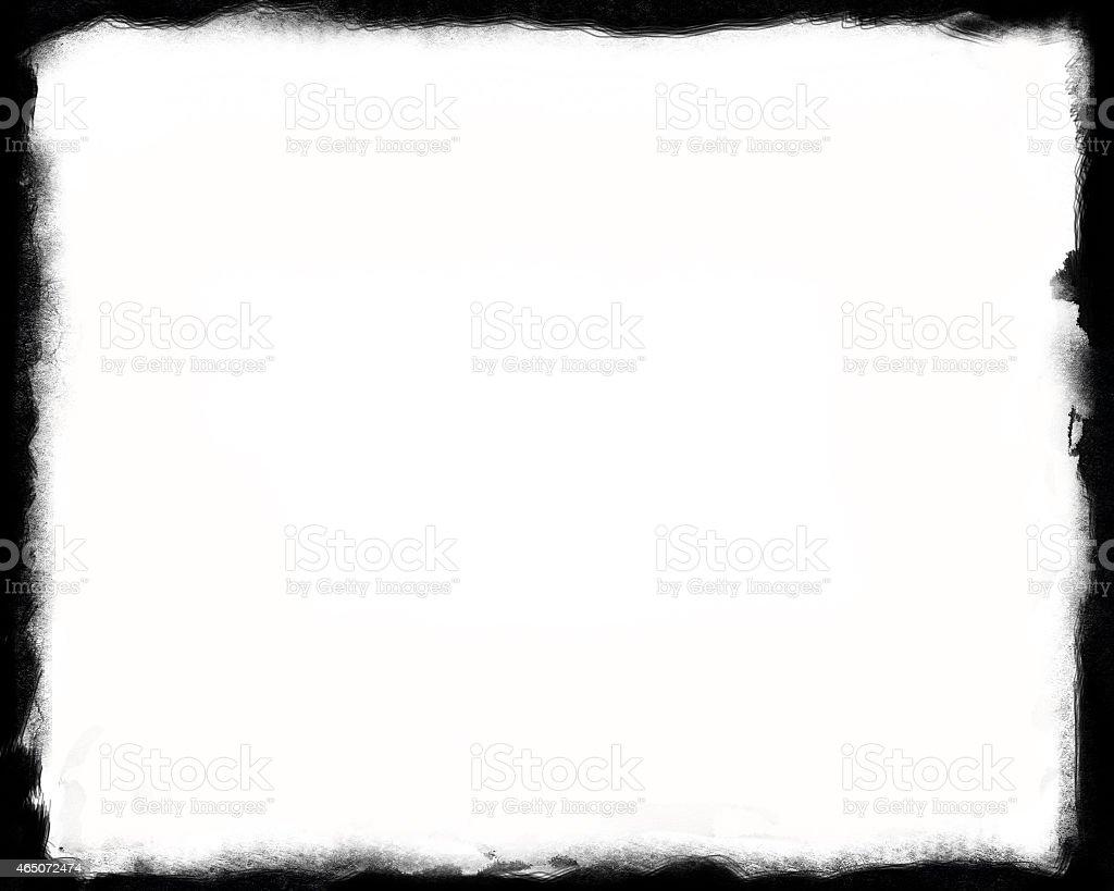 unique black border on white background thick royalty free stock photo